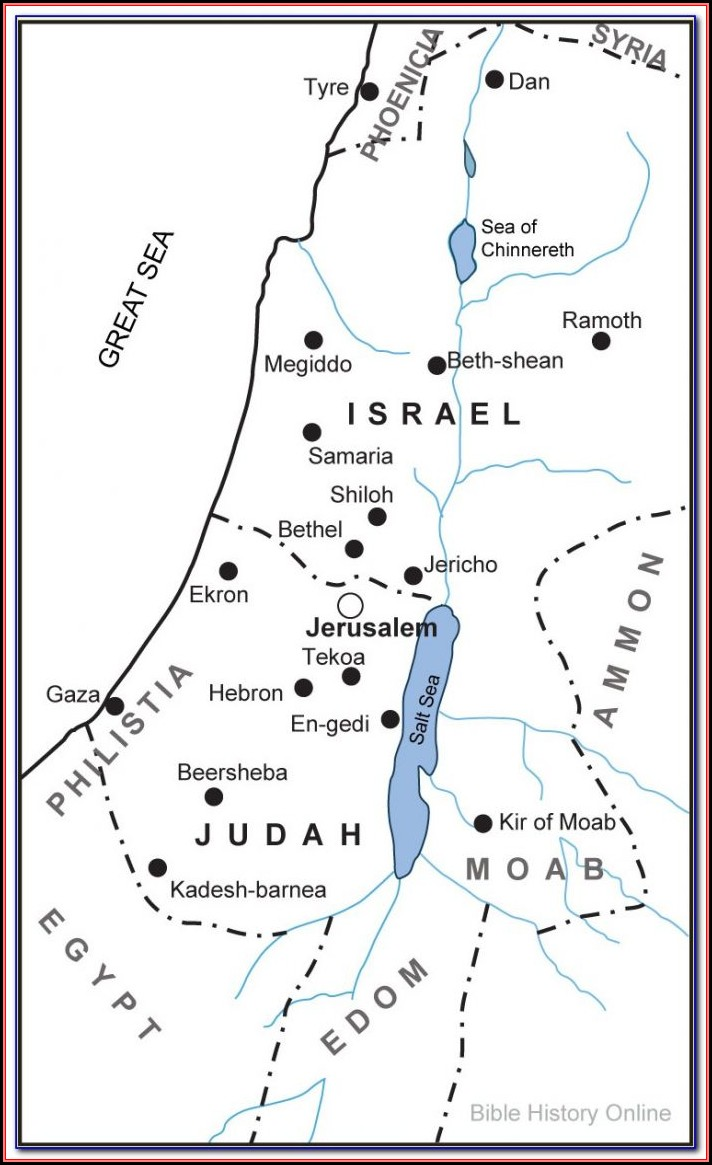 Bible Times Map Of Jerusalem