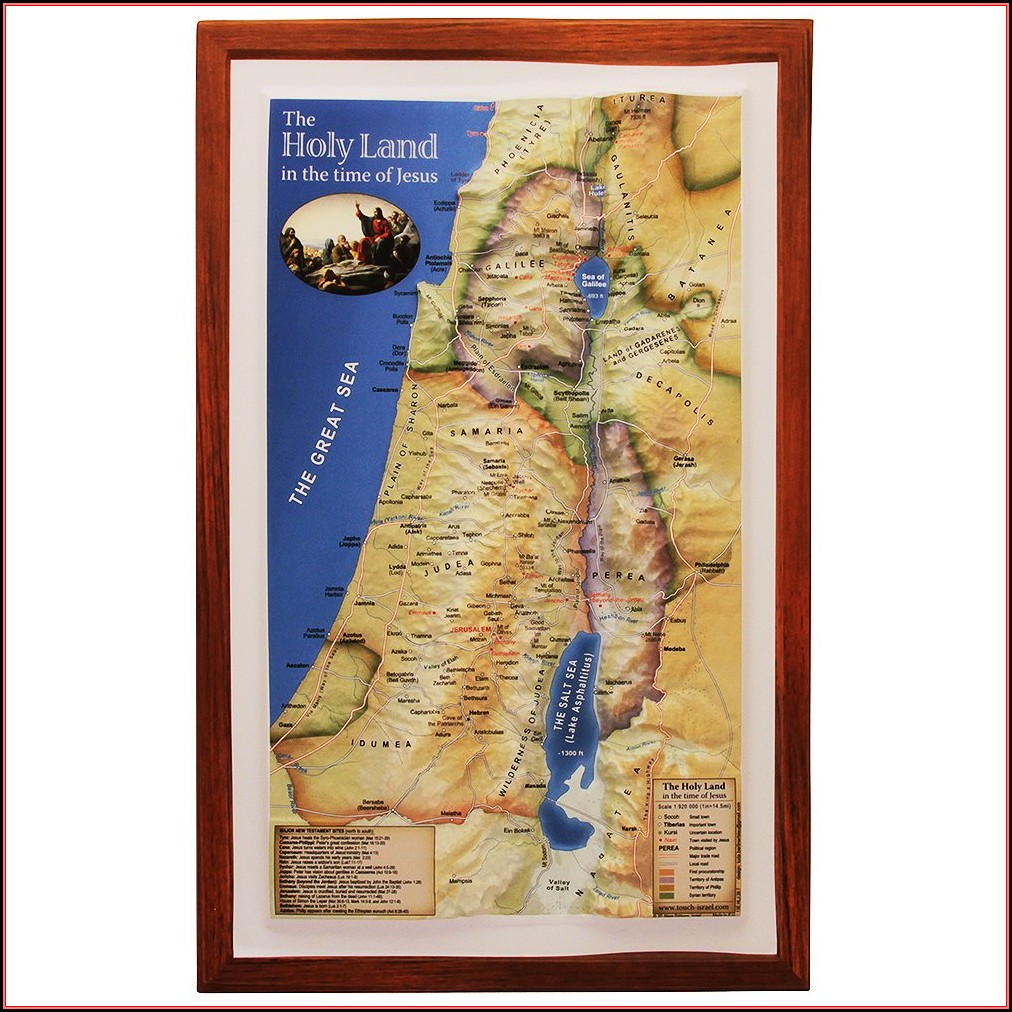 Biblical Map Of Israel In Jesus Time