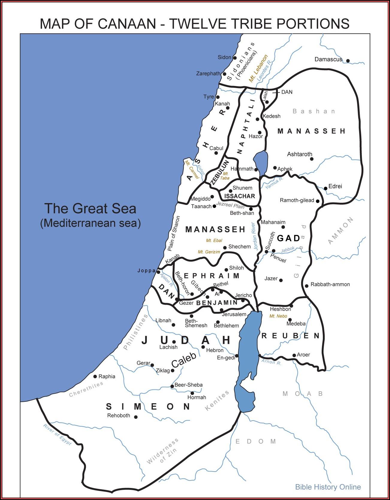 Biblical Map Of Israel