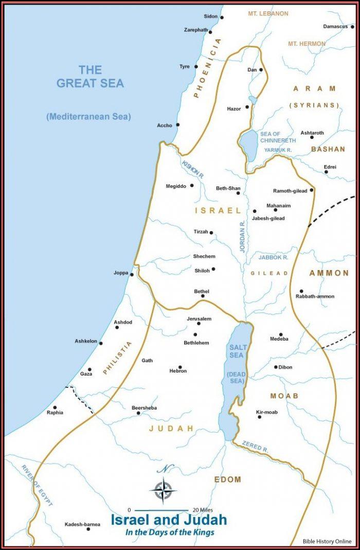 Biblical Maps Of Israel And Judah