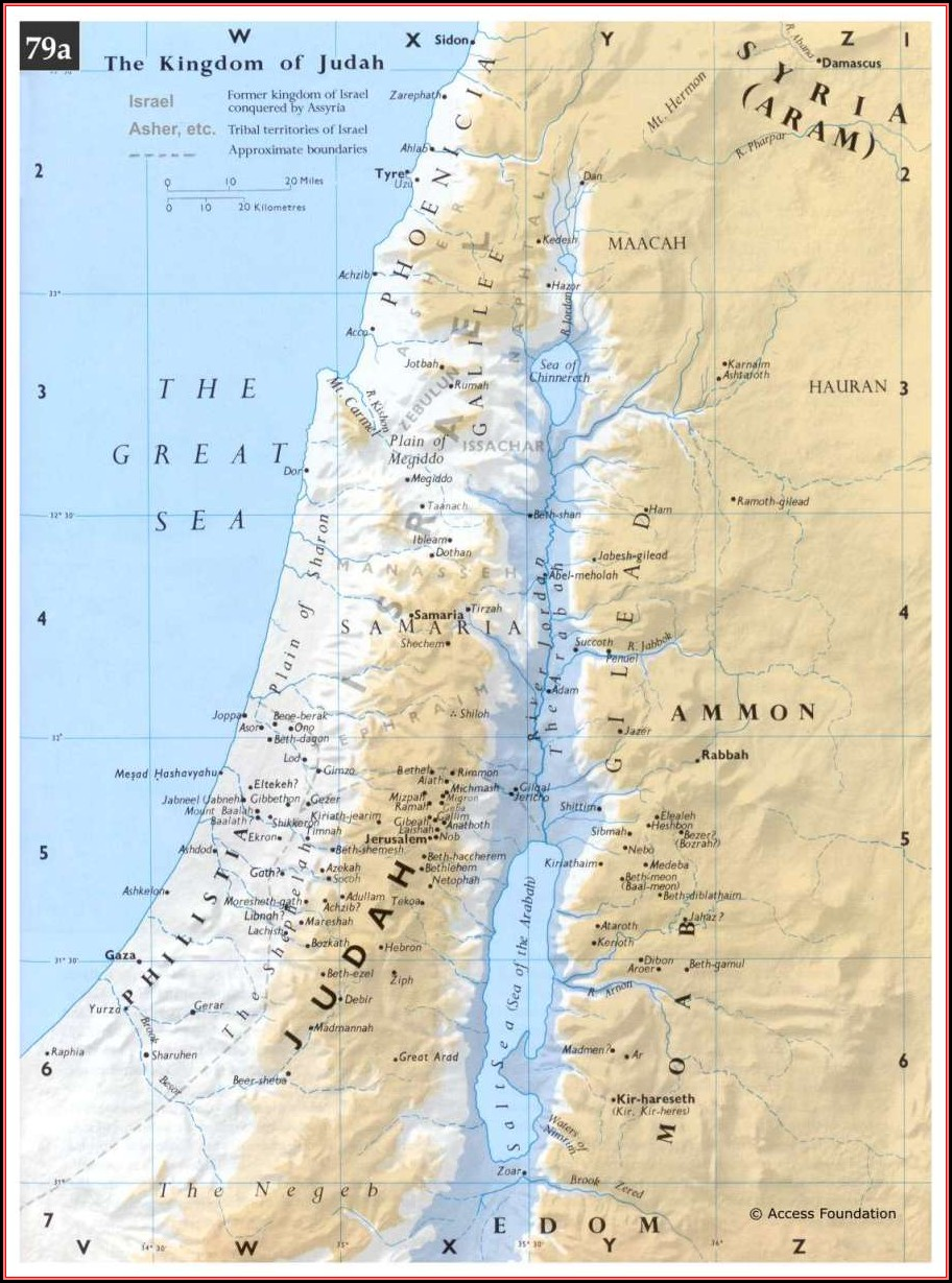 Biblical Maps Of Israel