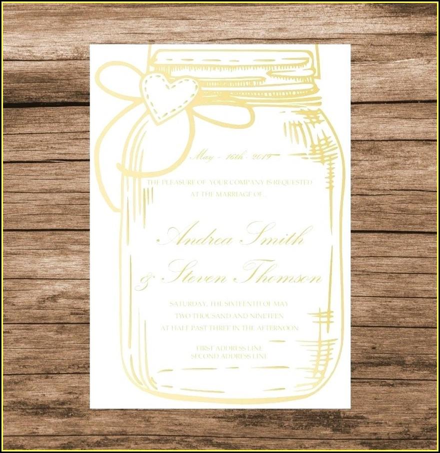 Blank Mason Jar Invitation Template