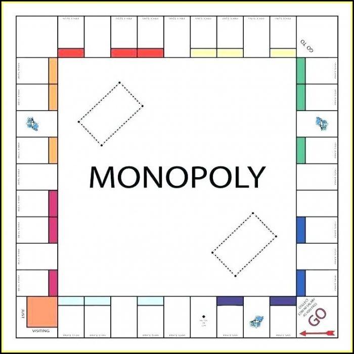 Blank Monopoly Board Template Free