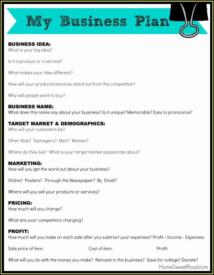 Boutique Business Plan Template Free
