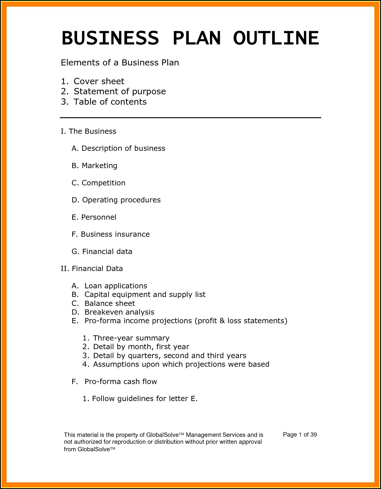Boutique Business Plan Template Pdf