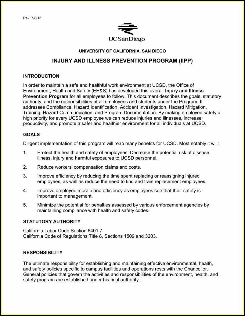 Cal Osha Iipp Requirements