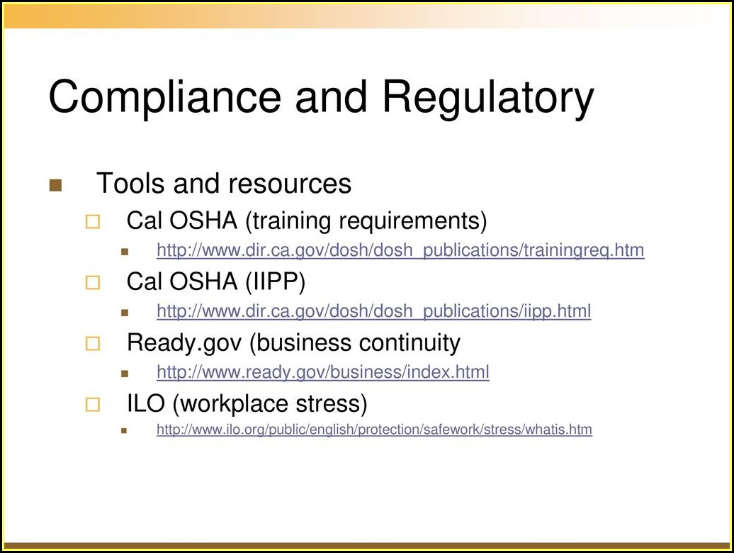Cal Osha Iipp Training Requirements