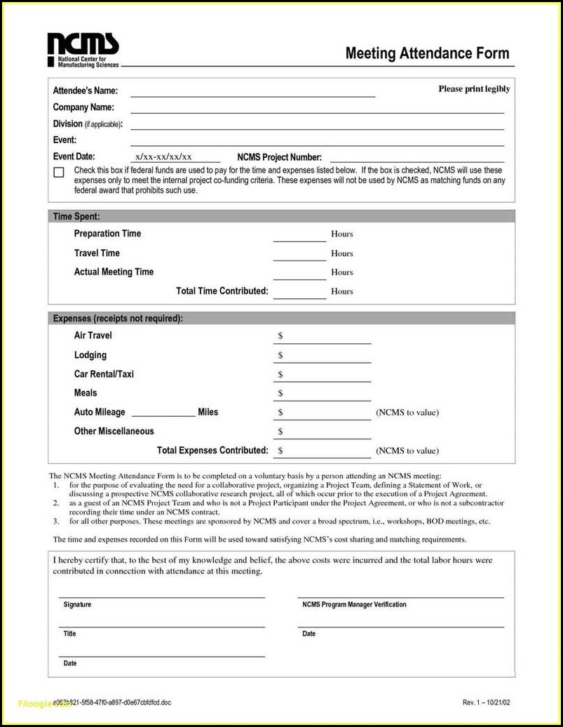 Car Rental Form Free Template