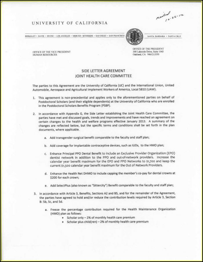 Caregiver Agreement Sample California