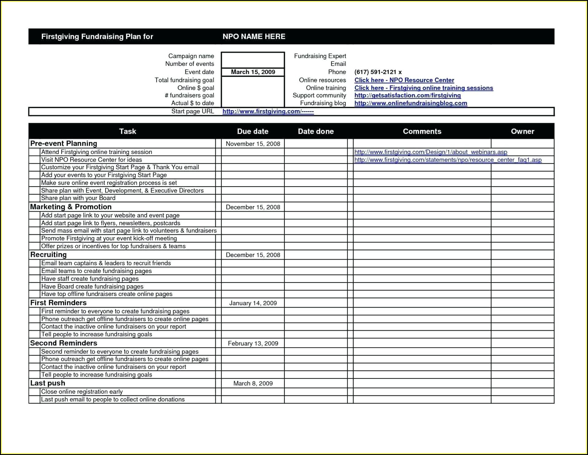 Checklist Template Excel Download Free