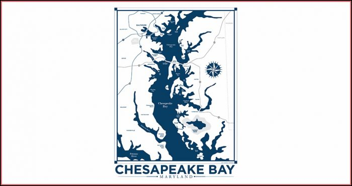 Chesapeake Bay Map Art