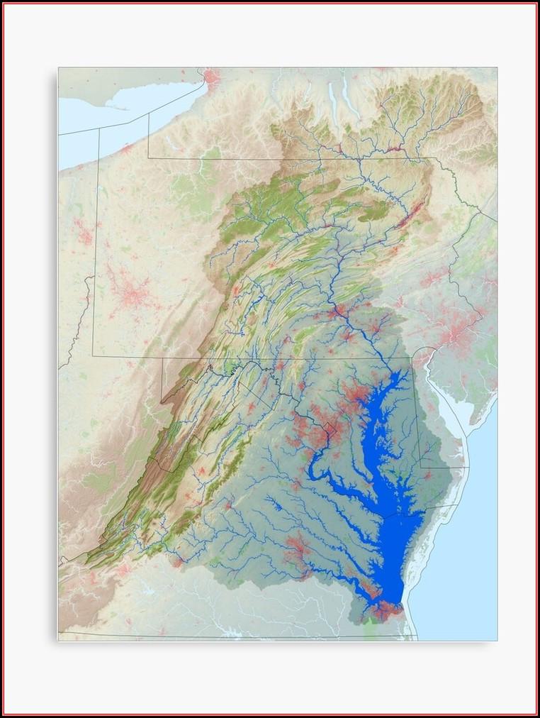 Chesapeake Bay Map Print