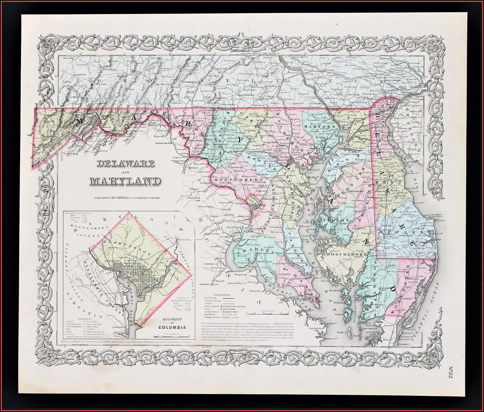 Chesapeake Bay Map Usa