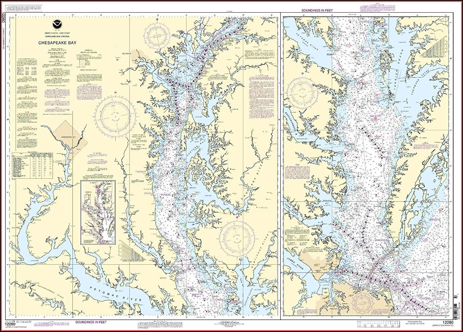 Chesapeake Bay Maps Charts
