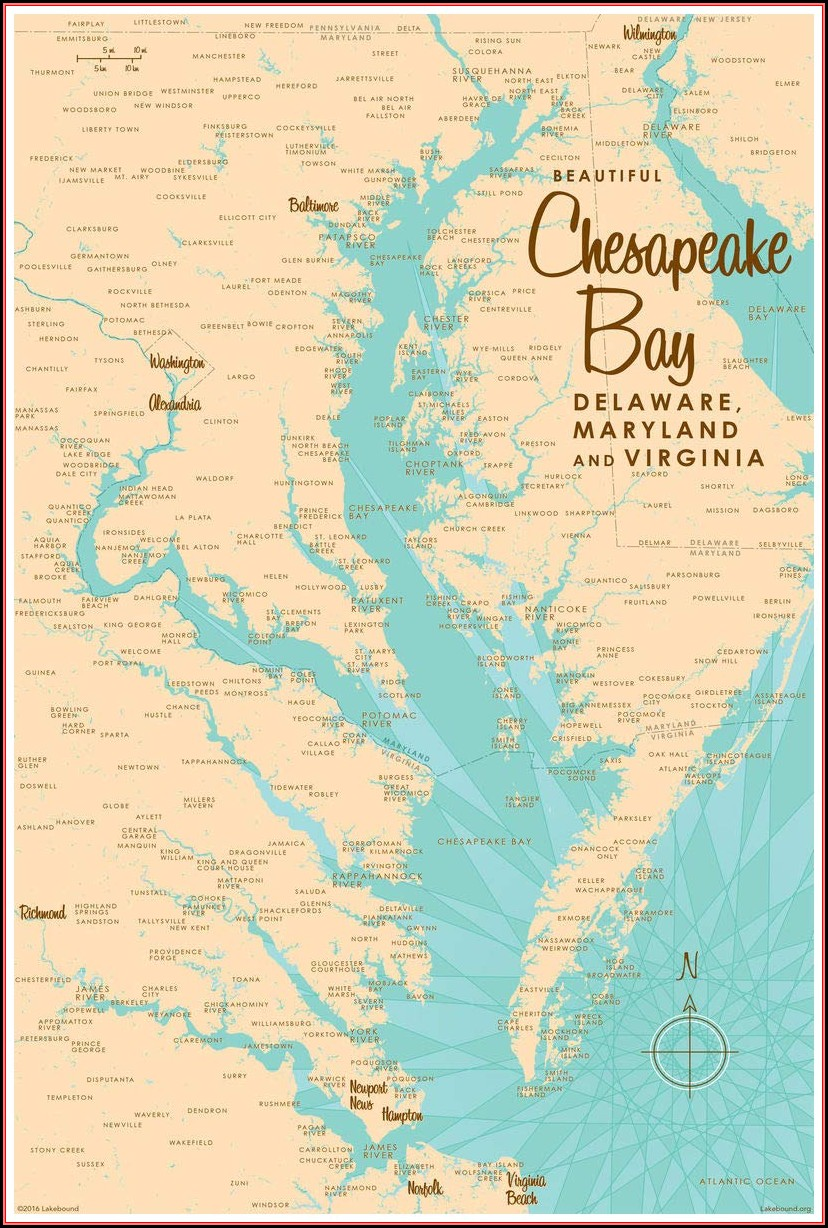 Chesapeake Bay Maps For Sale