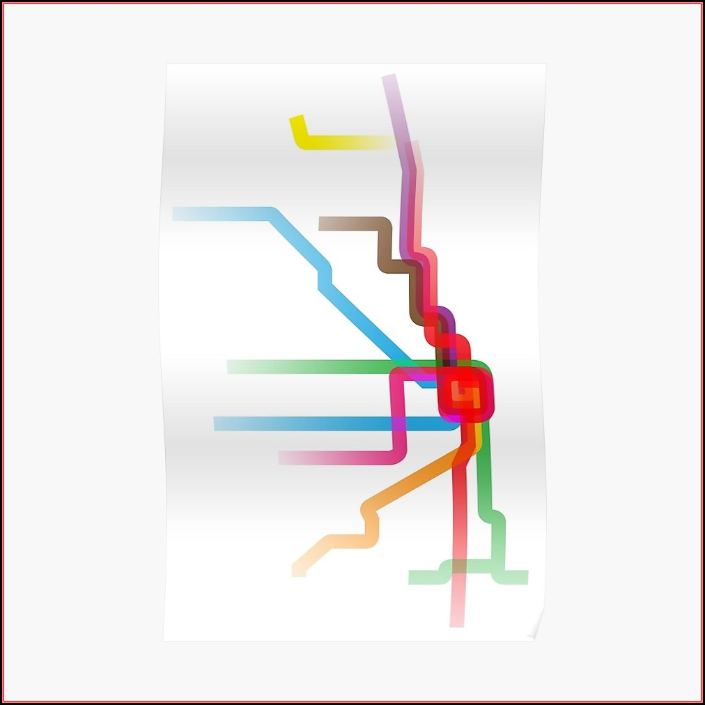 Chicago Cta Map Poster