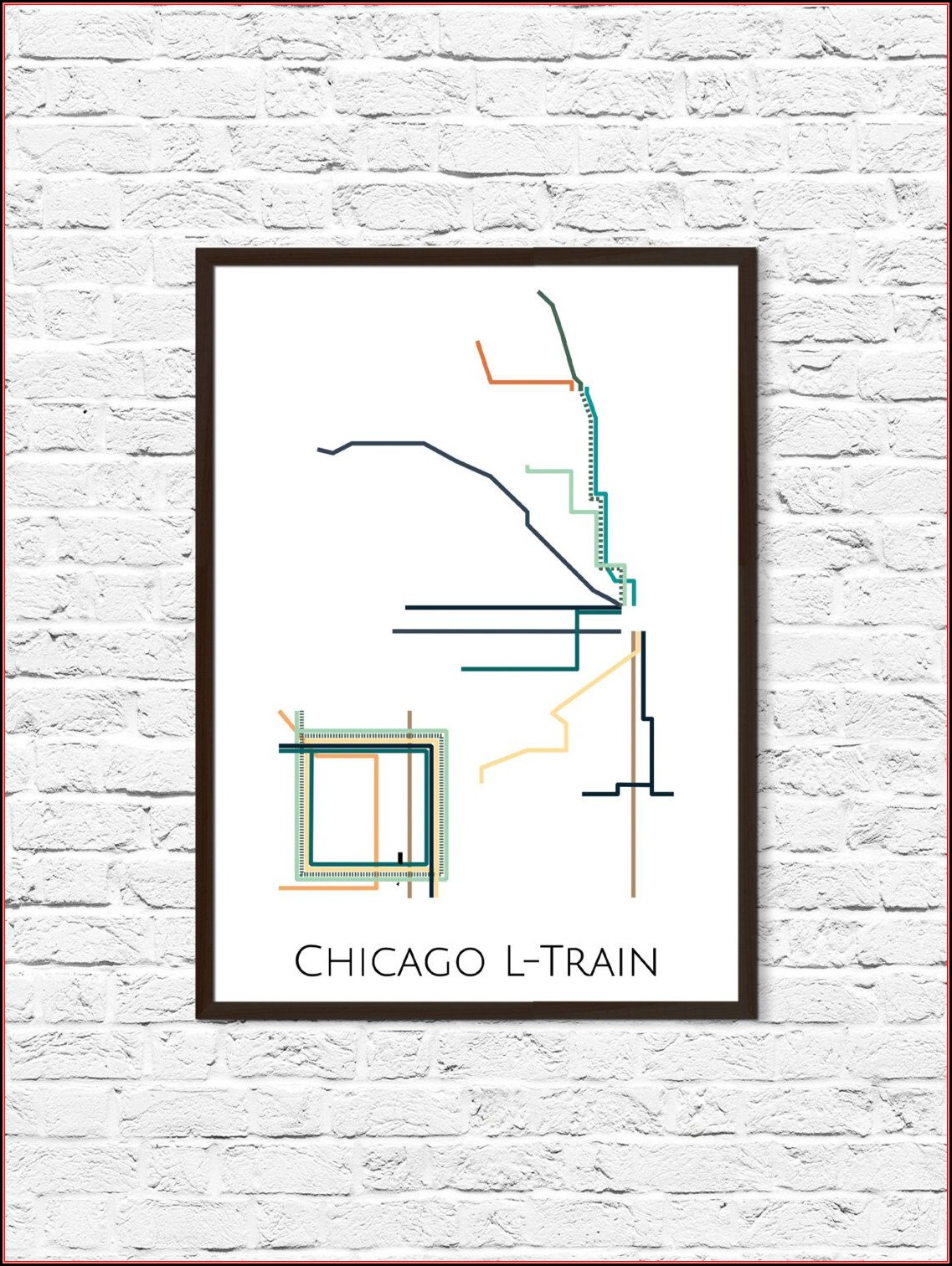 Chicago Transit Map Poster