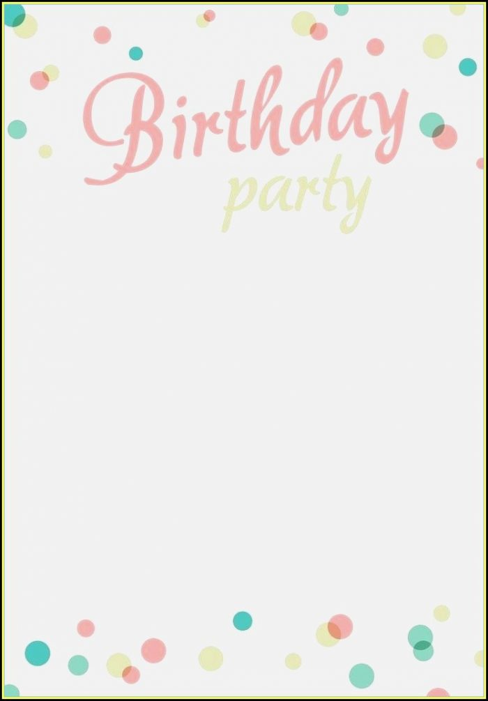 Children's Birthday Party Invitation Templates Free
