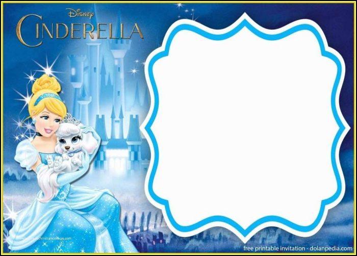 Cinderella Birthday Party Invitation Templates