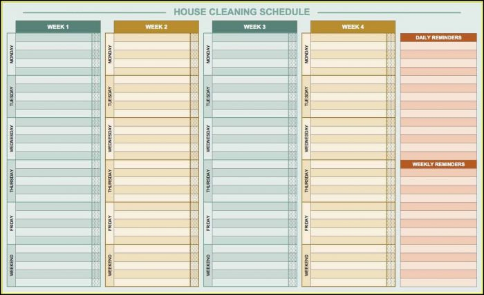 Cleaning Checklist Template Excel Free Download