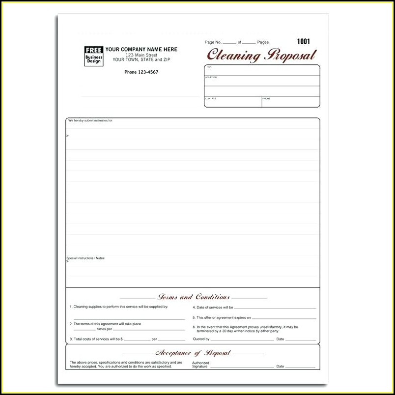 Cleaning Contracts Templates Uk