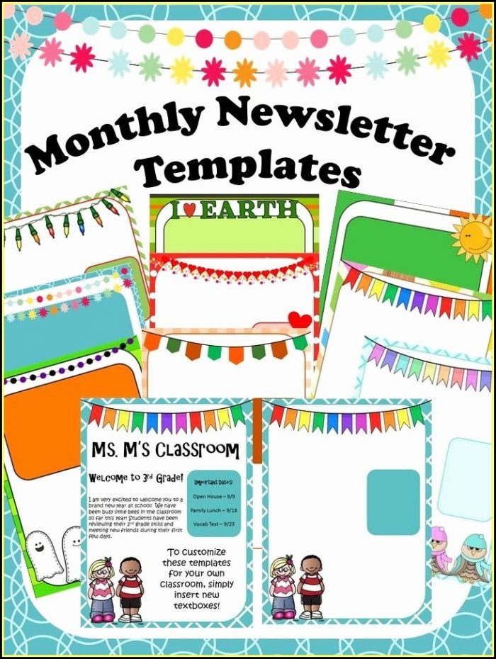 Club Newsletter Templates Word