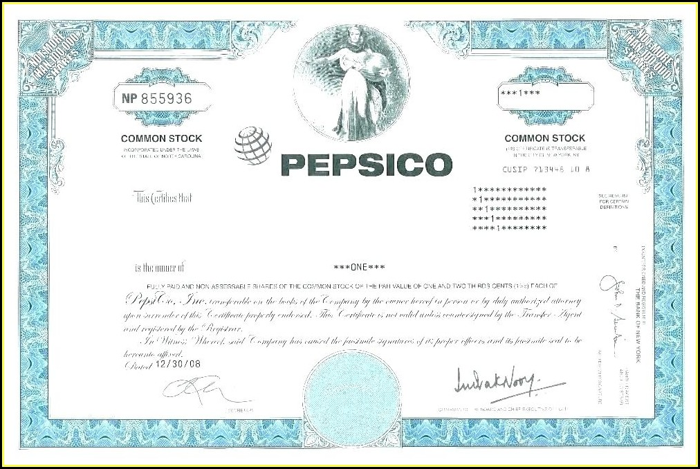 Company Share Certificate Template