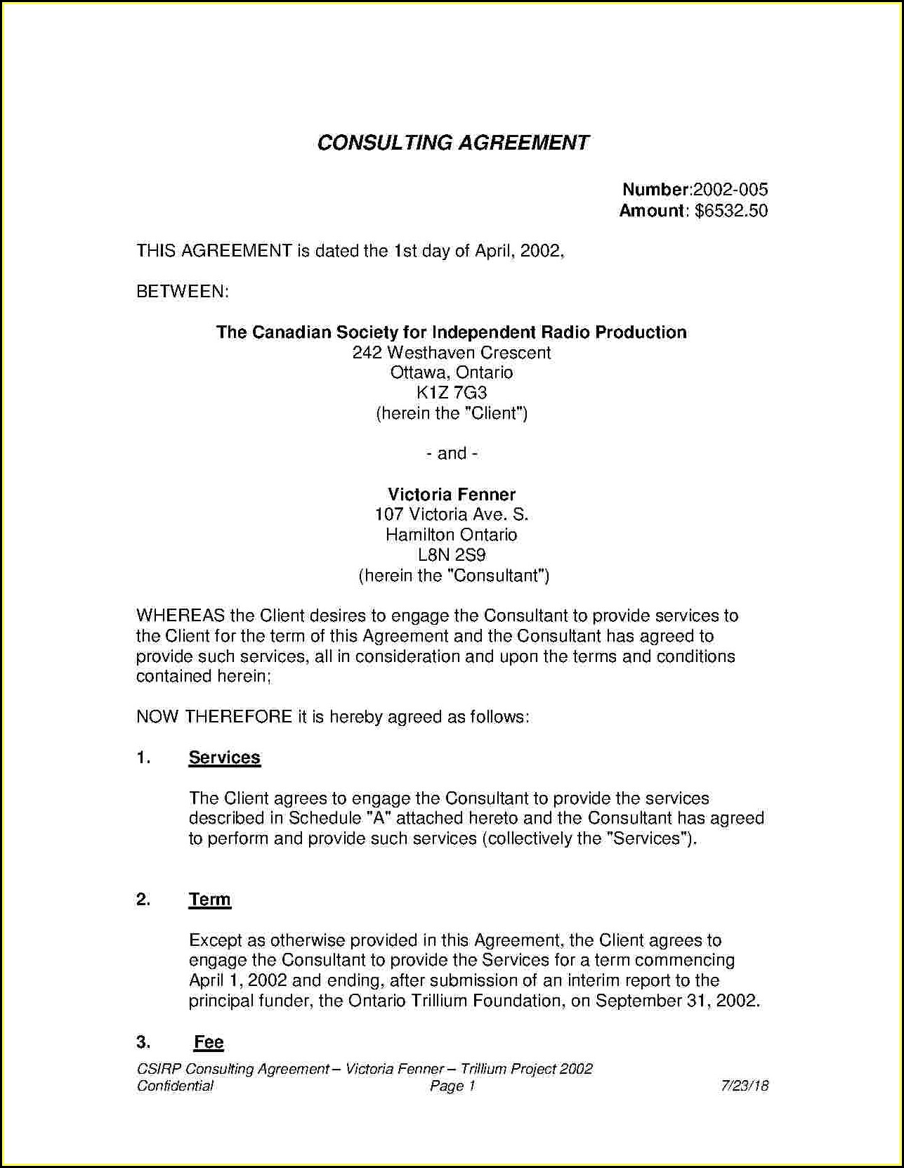 Consultancy Terms And Conditions Template