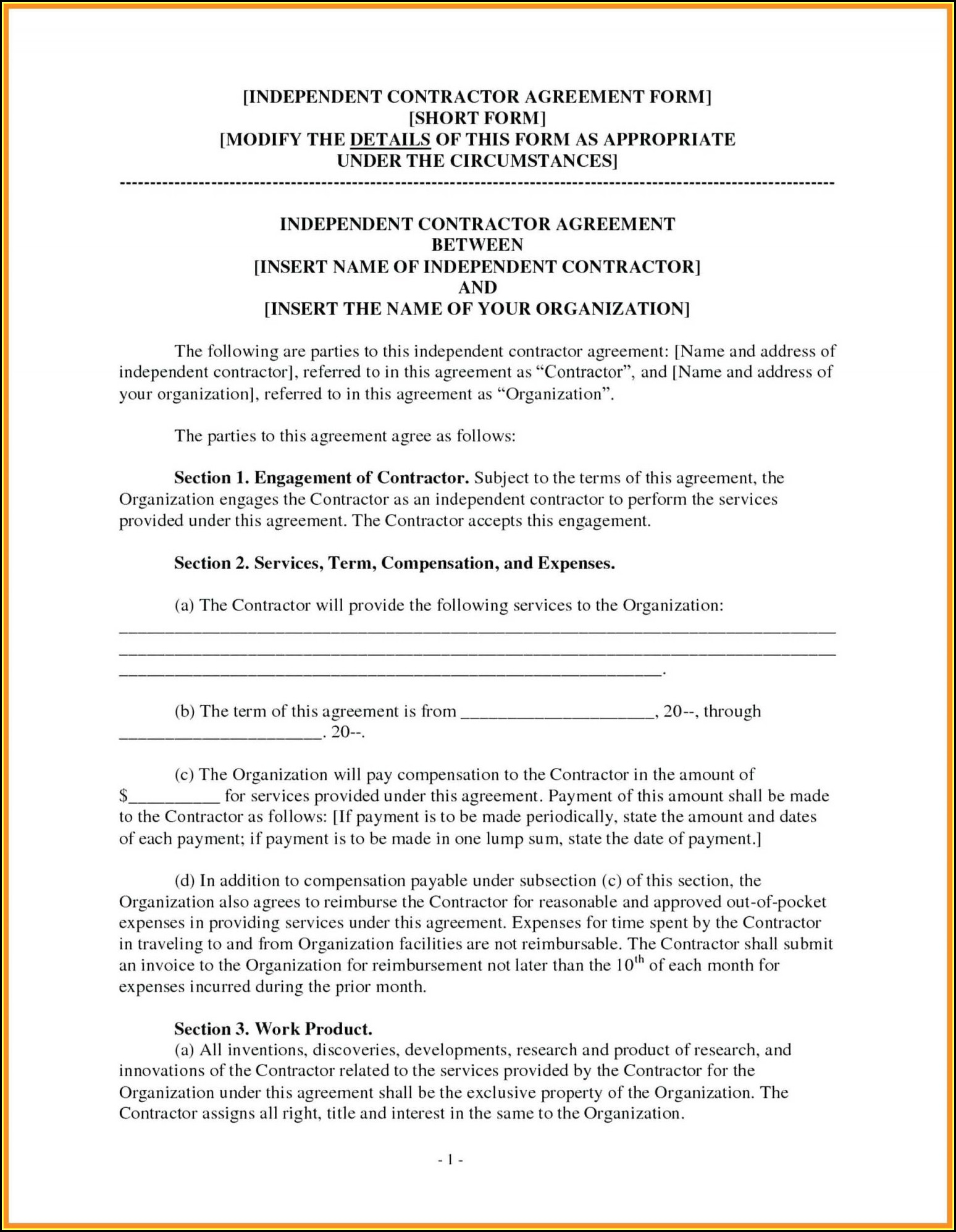 Consulting Agreement Template Ontario