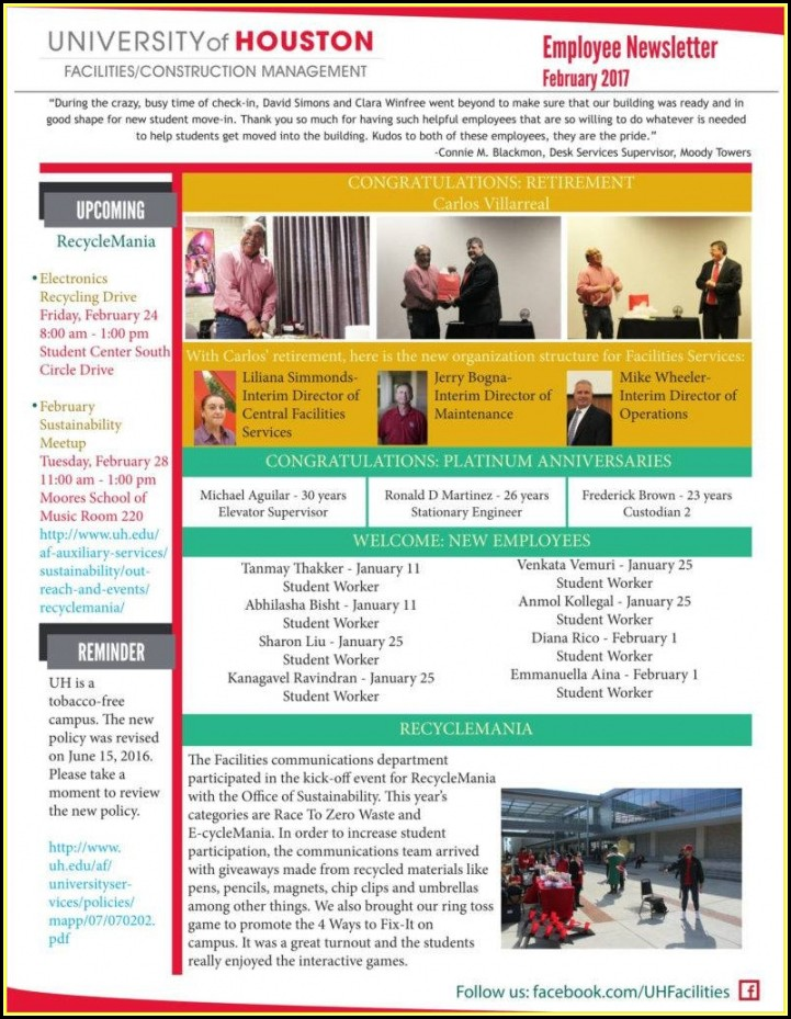 Corporate Newsletter Templates Free