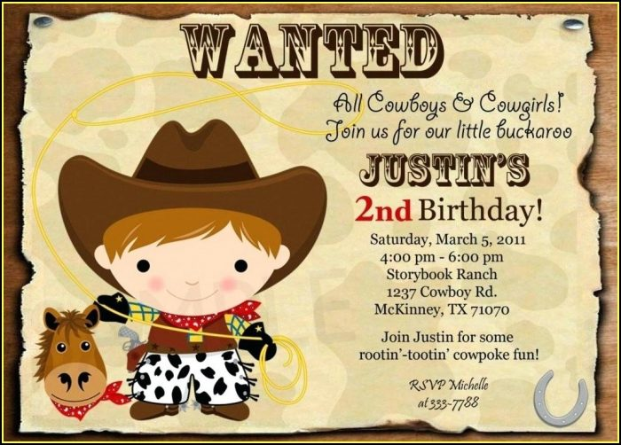 Country Western Birthday Invitation Templates Free