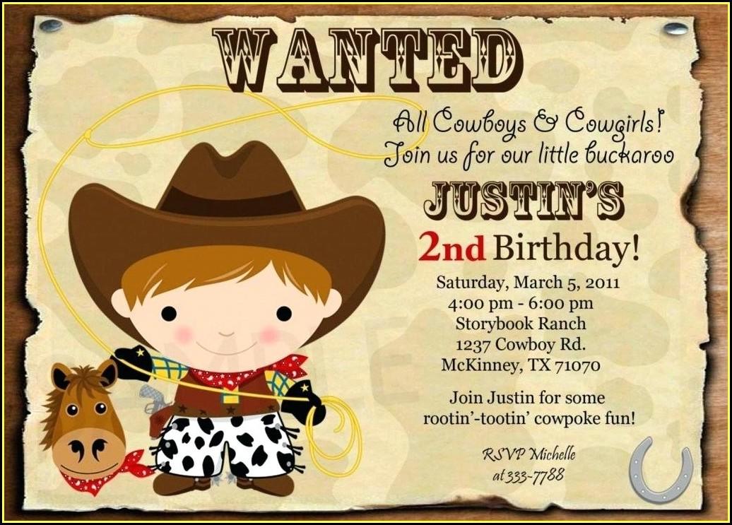 Country Western Birthday Invitation Templates Free