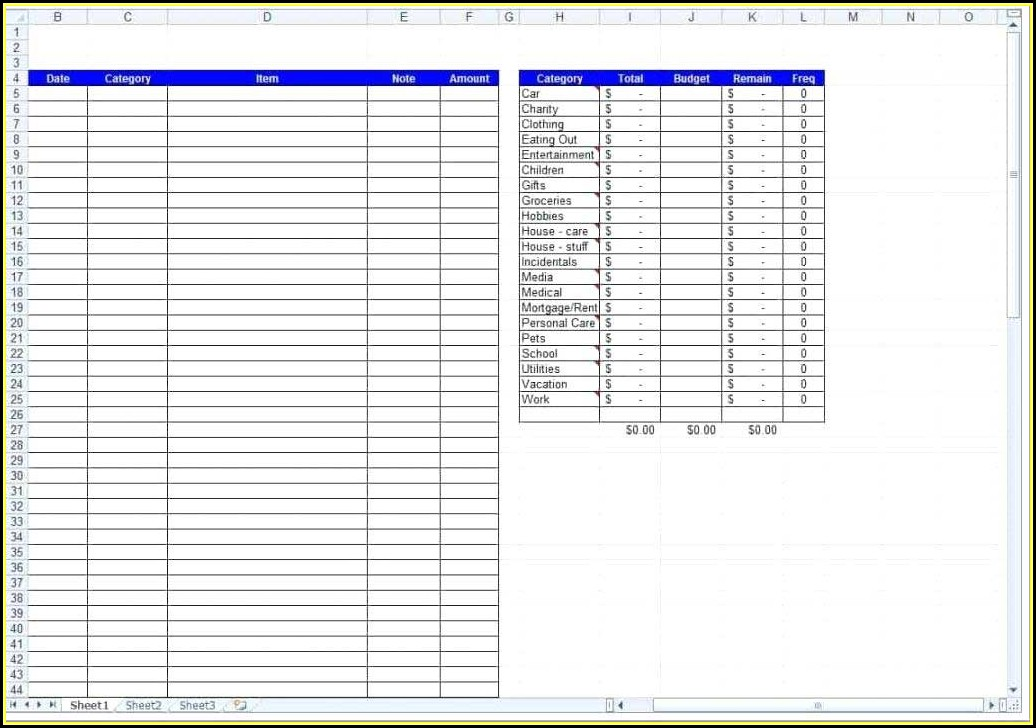 Daily Expense Excel Template