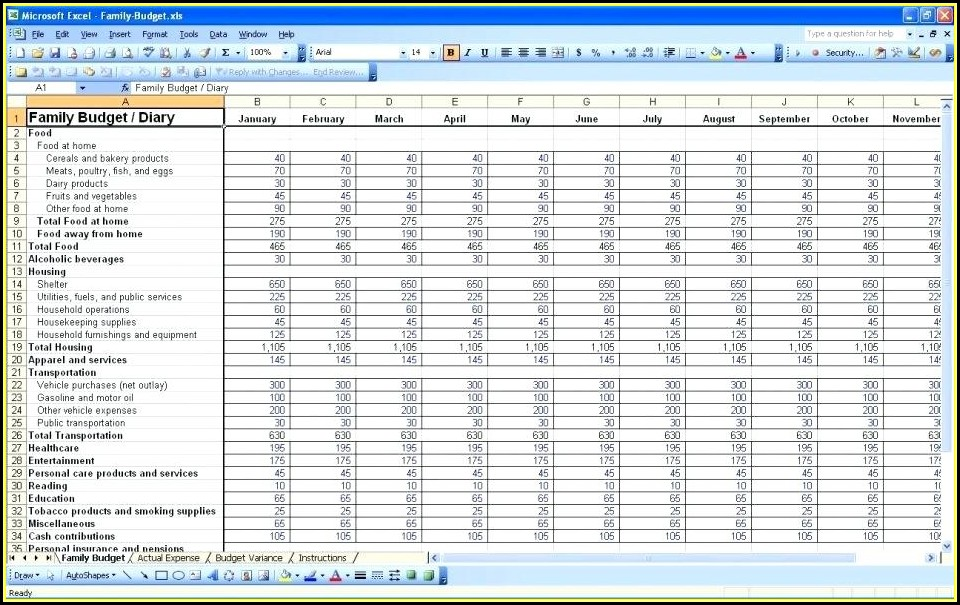 Daily Expenses Record Excel Template