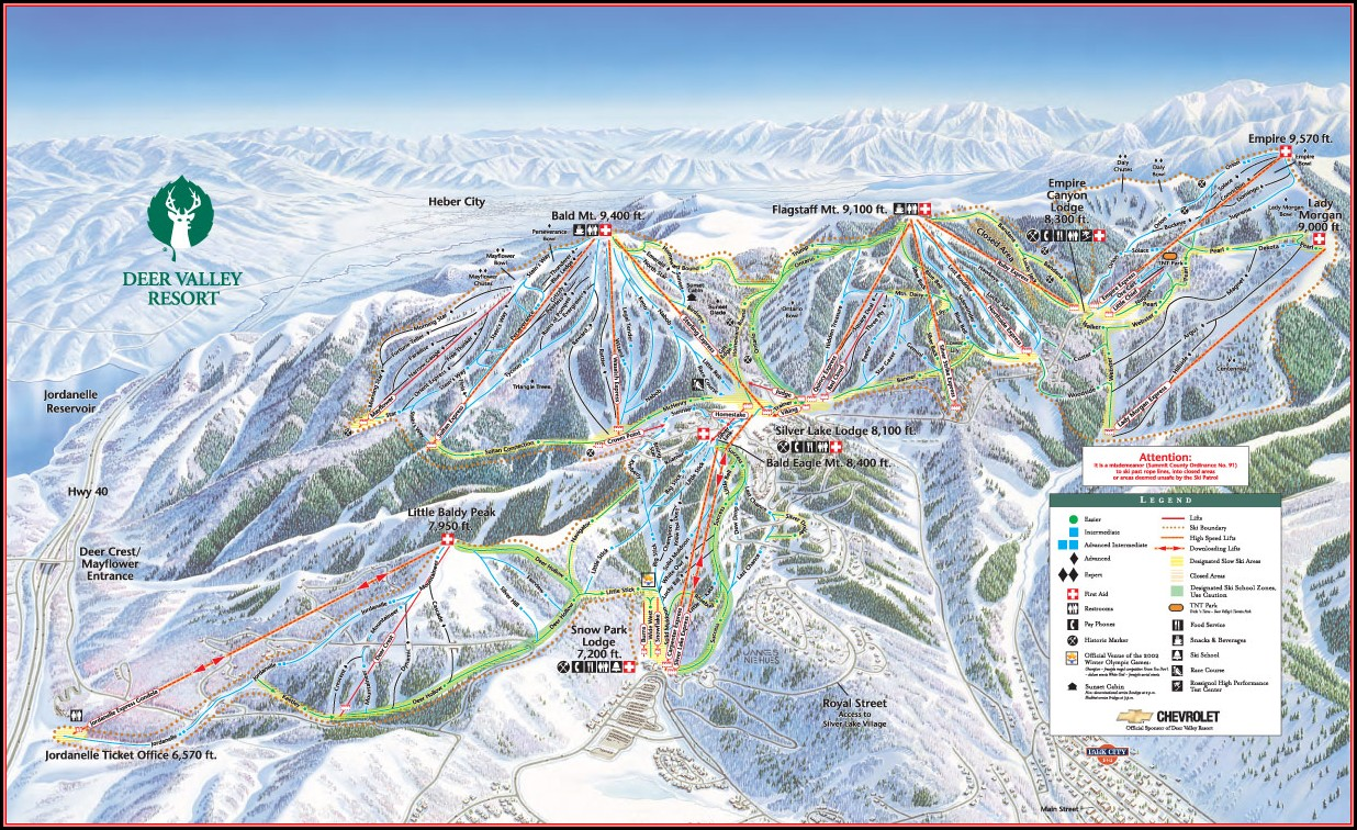 Deer Valley Lodging Map