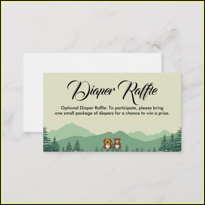 Diaper Raffle Card Template