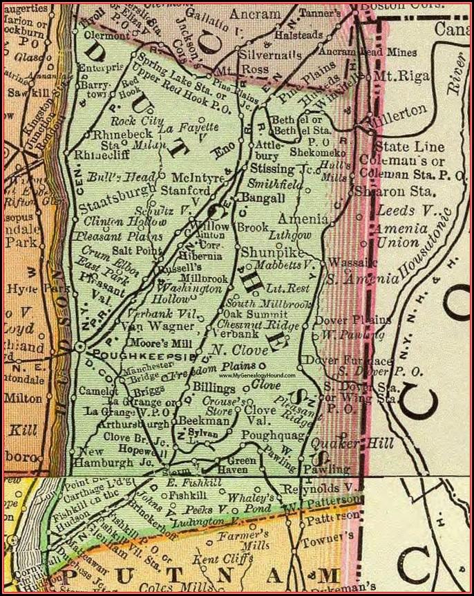 Dutchess County New York Map