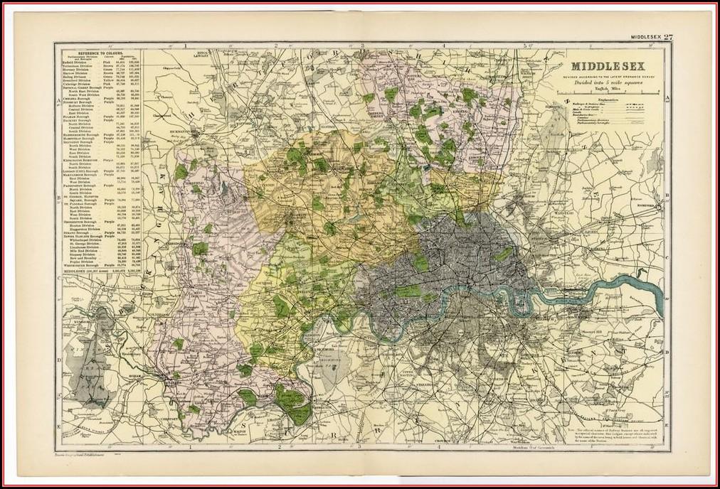 Ebay Antique Maps Uk
