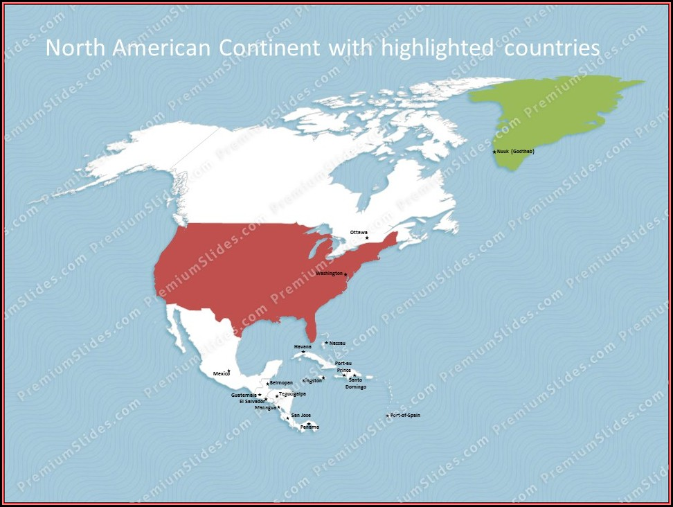 Editable North America Map Powerpoint