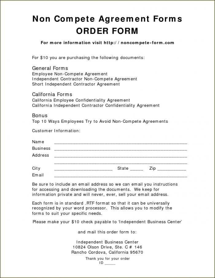 Employee Confidentiality Non Compete Agreement Template
