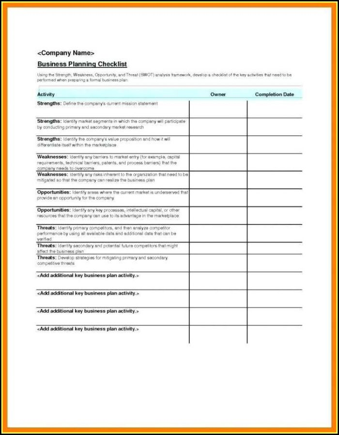 Event Checklist Template Excel Free