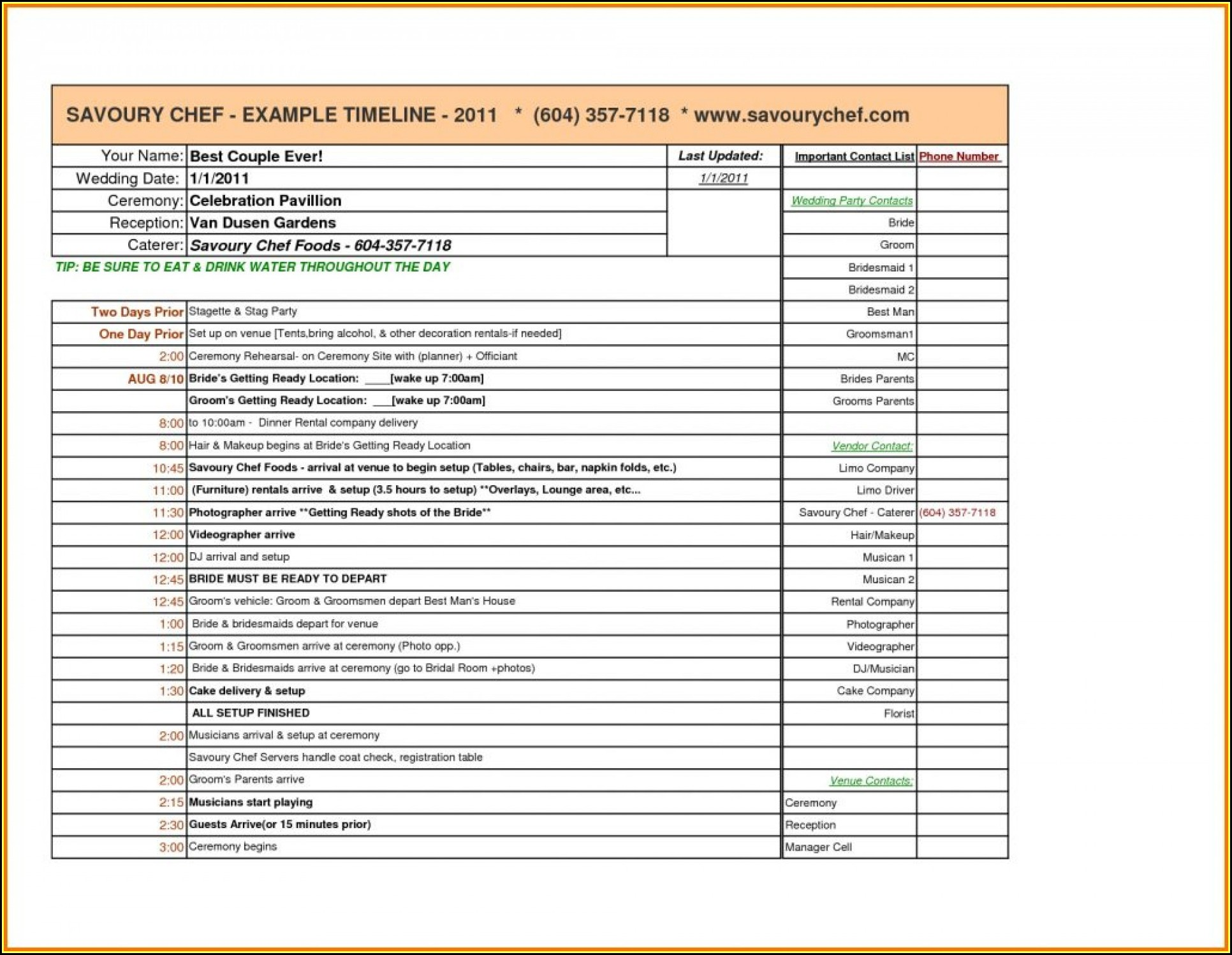 Event Planning Checklist Template Excel Free