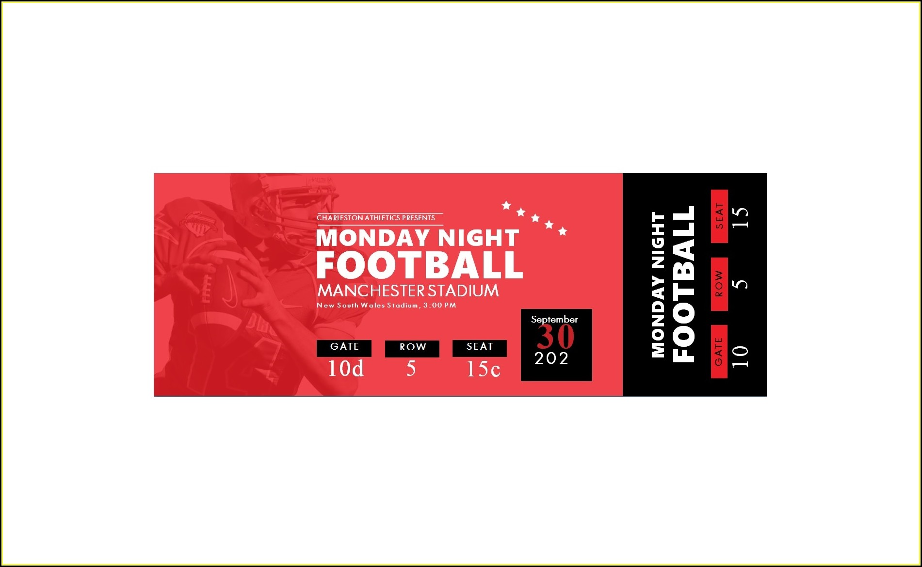 Event Ticket Template Word Free