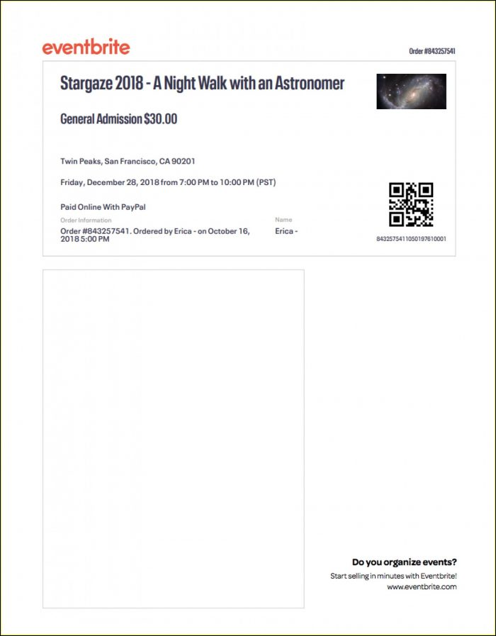 Event Tickets Template Microsoft Word