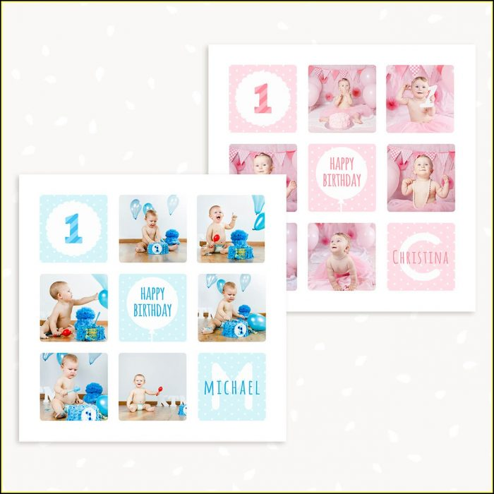 First Birthday Collage Template