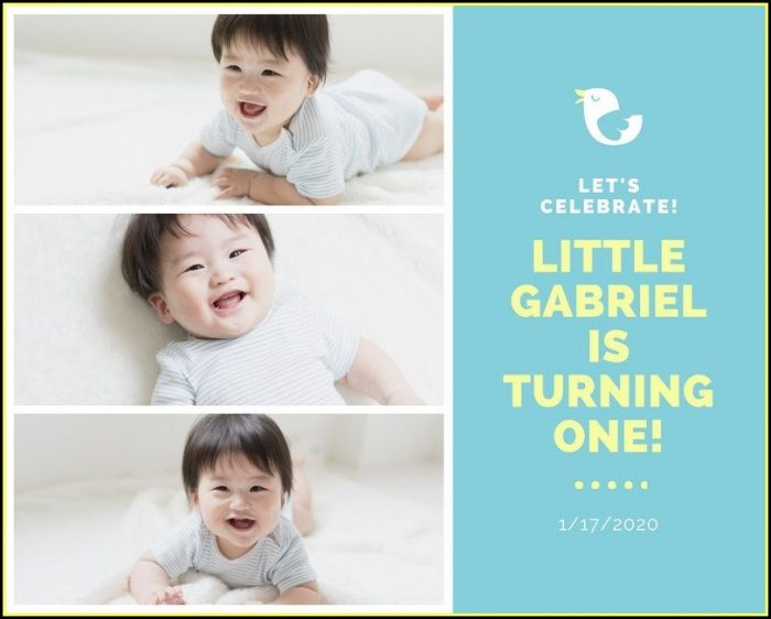 First Birthday Photo Collage Templates
