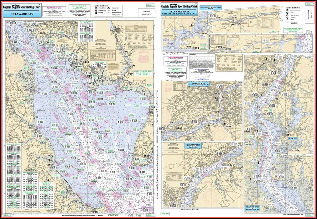 Fishing Map Of Delaware Bay
