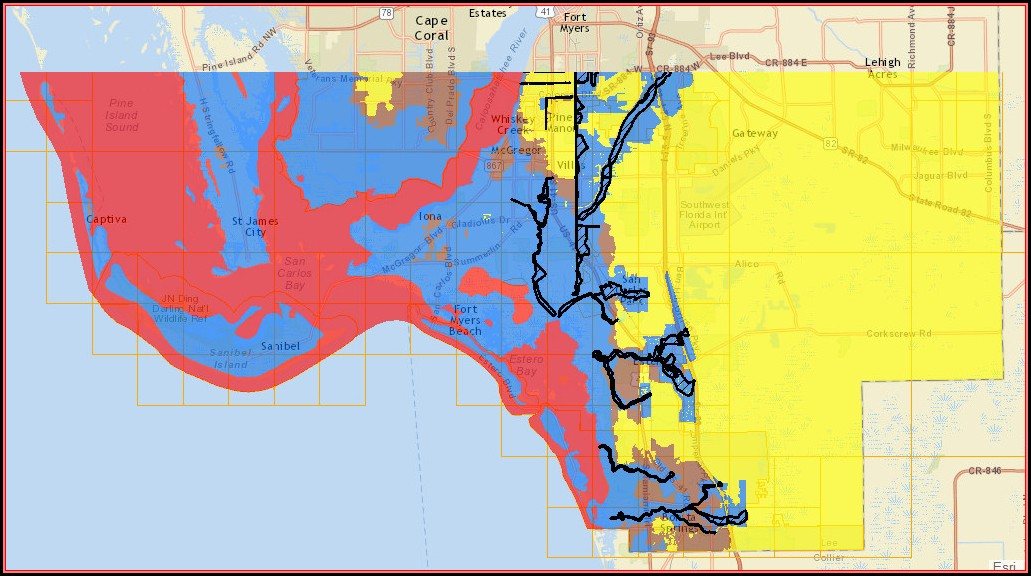 Flood Map Cape Coral Florida