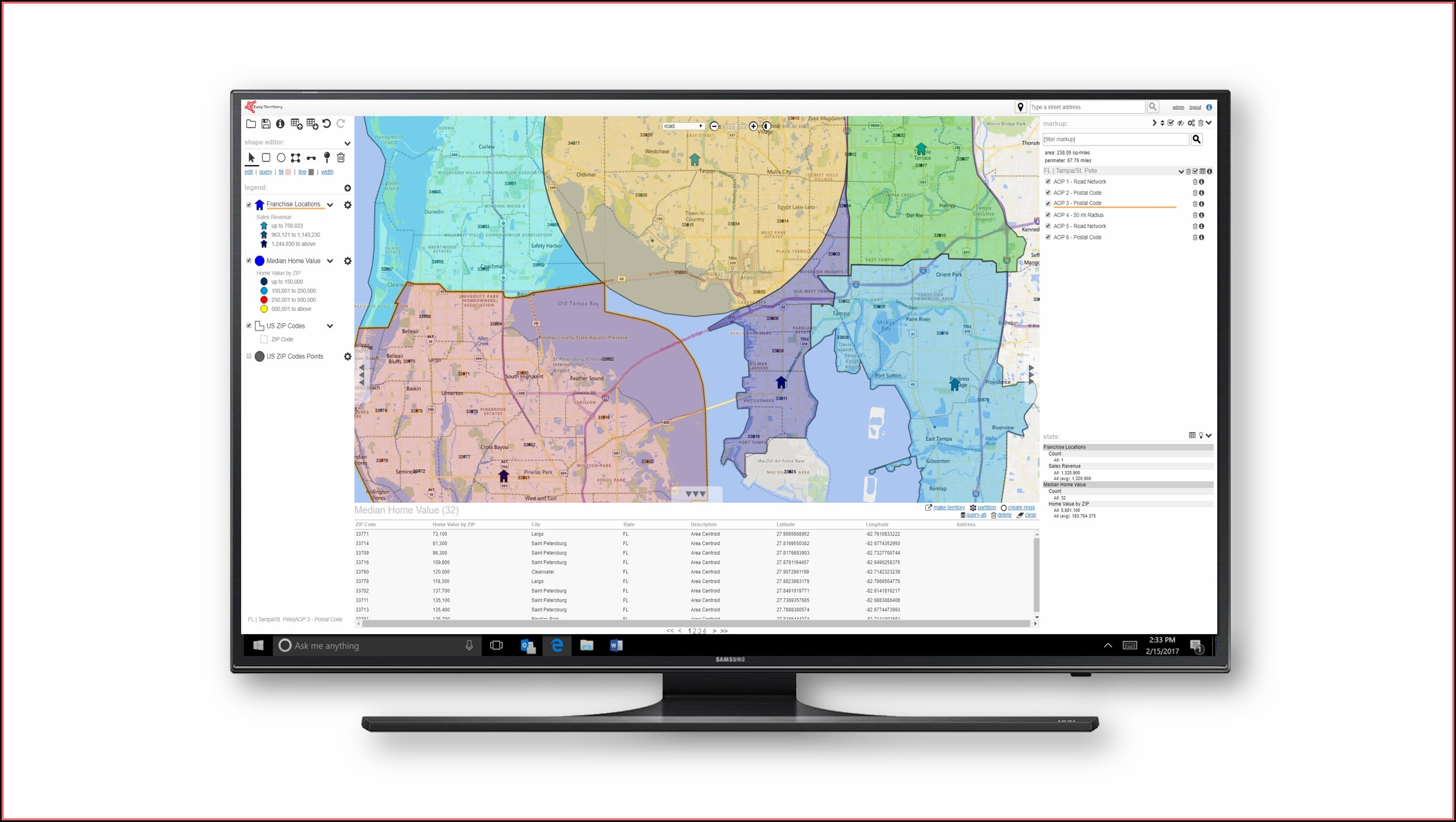 Franchise Territory Mapping Software