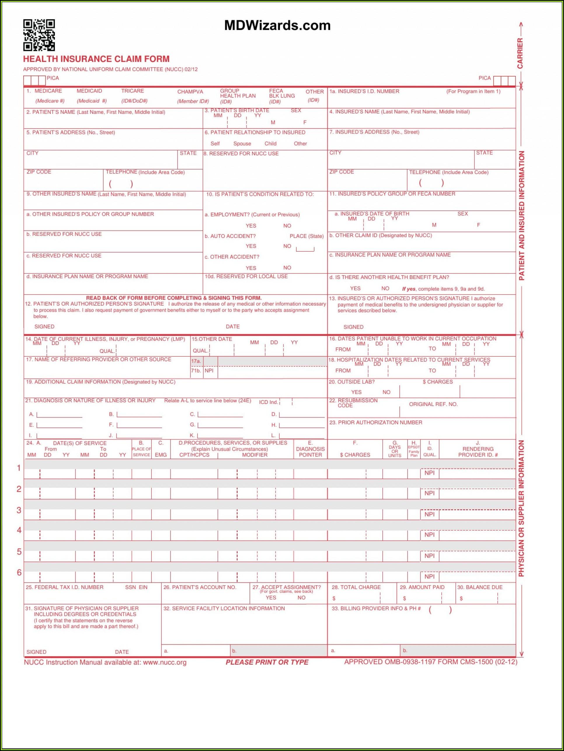 Free 1500 Form